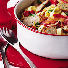 Sausage And Sweet Pepper Tagliatelle