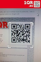 Screenshot of 1QR - free QR code scanner