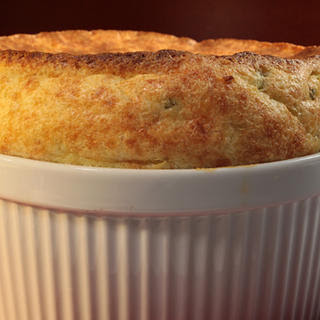 Jack Cheese and Grits Soufflé