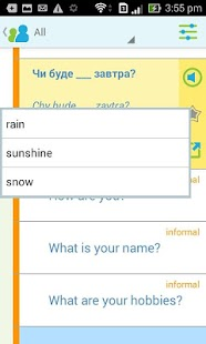 Learn Ukrainian Phrasebook- screenshot