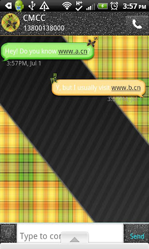 GO SMS THEME OrangePlaidCPK