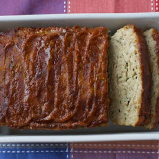 Chicken Meatloaf with Pomegranate Tomato Glaze