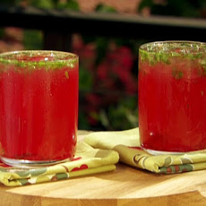 Electric Blood Orange Limeade with Muddled Mint