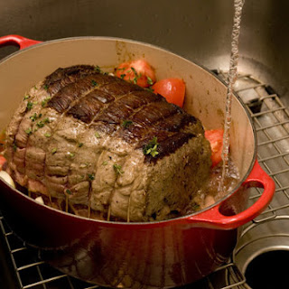 Beef Roast With Melted Tomatoes and Onions