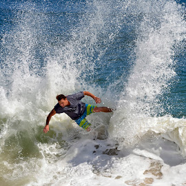 Surfing Vilano Beach by Bill Telkamp - Sports & Fitness Surfing ( surfing, vilano beach, beach )