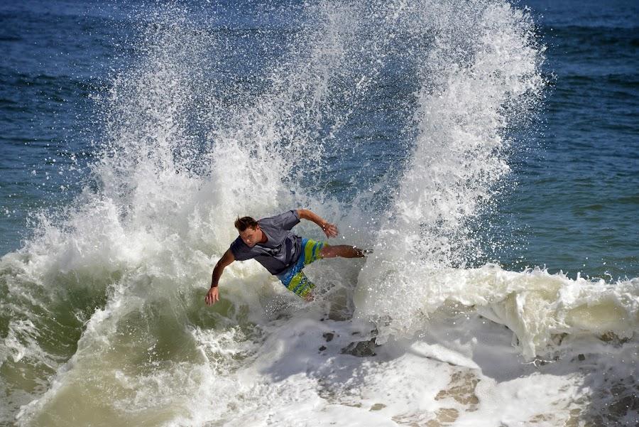 Surfing Vilano Beach by Bill Telkamp - Sports & Fitness Surfing ( surfing, vilano beach, beach,  )