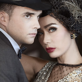 The Great Gatsby by Marites Reales - People Couples ( 1920, great gatsby, gatsby, couple, portrait )