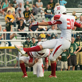The Kick is Good! by Tabitha Cowan - Sports & Fitness American and Canadian football ( indiana, high school, football, 2014, tigers )