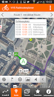 Screenshot of VVS Radroutenplaner