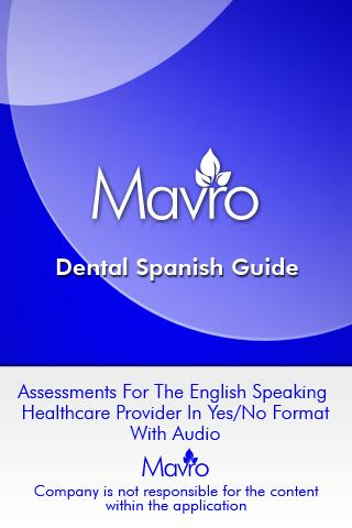 Dental Spanish Guide DSG