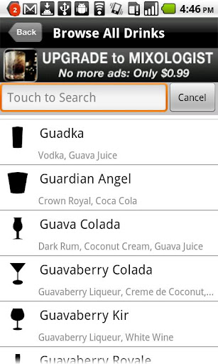 mixology-drink-recipes for android screenshot