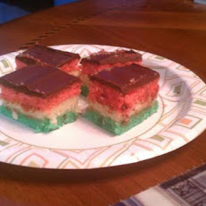Italian Tri-Color Cookies (Rainbow Cookies)
