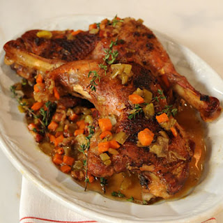 Cider-Braised Turkey Legs