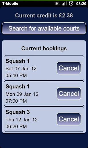Squash Bookings