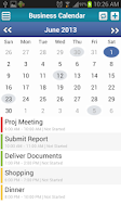 Screenshot of Business Calendar Event TODO