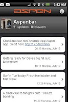 Screenshot of Aspenbar