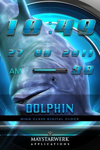 海豚時鐘部件