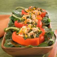Roasted Bell Pepper Salad Boats