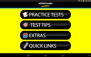 Screenshot of ASVAB Practice For Dummies