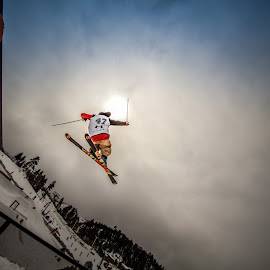 Freestyler by Jay Woolwine - Sports & Fitness Snow Sports ( freestyle skiing, ski, skiing, skiier, wor )
