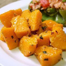 Baked Butternut Squash With Garlic And Cheese