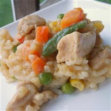 Baked Chicken and Cheese Risotto