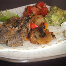 Roasted Garlic Steak Fajitas