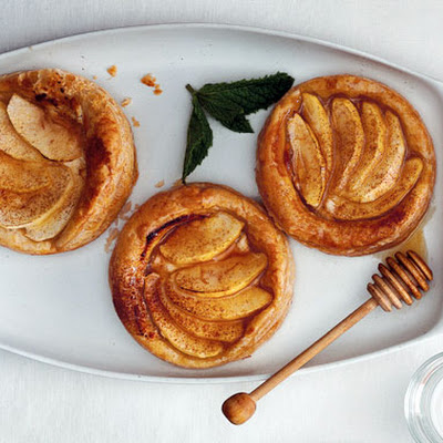 Apple, Goat Cheese, and Honey Tartlets