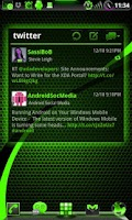 Screenshot of GOWidget PoisonGreen ICS -Free
