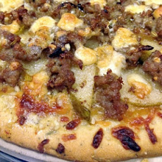 Pear Gorgonzola Sausage Pizza