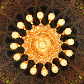 The Grand Chandelier by Dhanika Ranasinghe - Buildings & Architecture Other Interior ( chandelier, lighting, muscat, oman, sultan qaboos grand mosque )