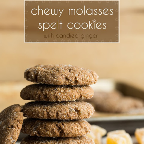 Chewy Molasses Spelt Cookies