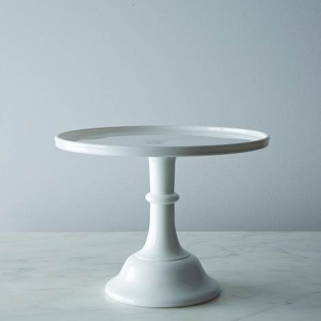 Cake Plate - Milk Glass