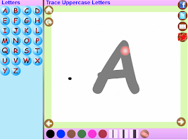 Screenshot of Trace Hindi Alphabets for Kids