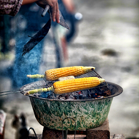Barbeque Corn  by Daril Sugito - City,  Street & Park  Markets & Shops