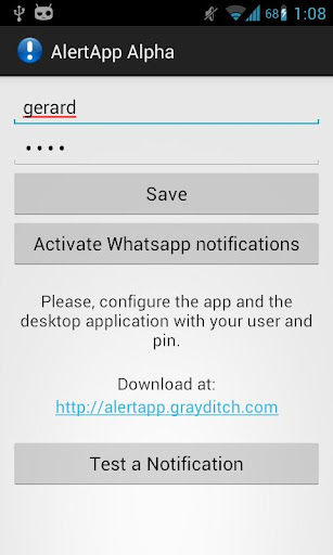 AlertApp Alpha