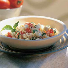 Fresh Mozzarella, Tomato, and Basil Couscous Salad