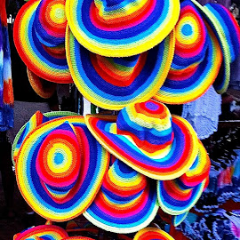 market hats by Tracey Jones - Artistic Objects Clothing & Accessories ( hats, colour, markets, vivid colour, hues, color, colors, landscape, portrait, object, filter forge )