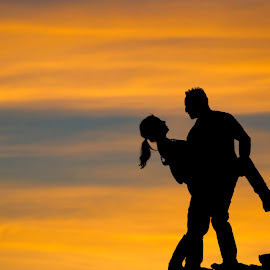 Sunset Engagement shoot. by Steve Forbes - People Couples