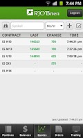 Screenshot of RJO Mobile Trader