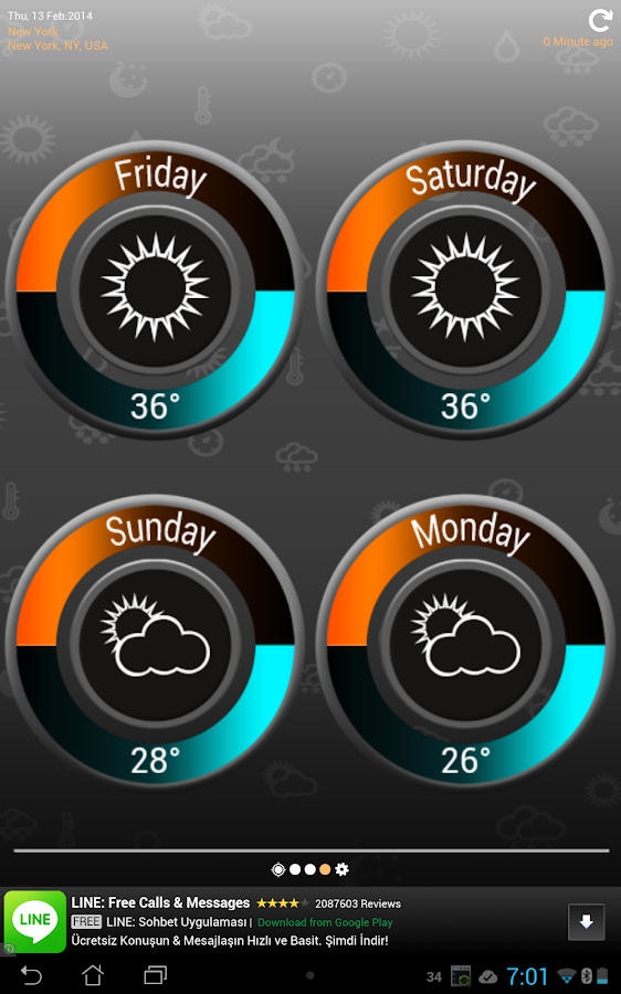 Weather Clock Screenshot 12