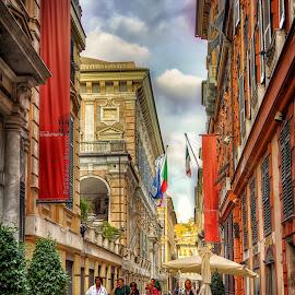 Genova by Cristian Peša - City,  Street & Park  Street Scenes