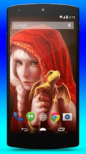 Dragon Girl Live Wallpaper - screenshot