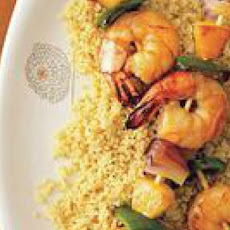 Pineapple-Shrimp Kebabs with Couscous