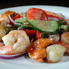 Shrimp and Scallops With Speedy Salad