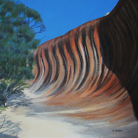 Wave Rock by Marilyn Brown - Painting All Painting ( wave, western, rock, in )