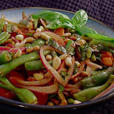 Basil and Balsamic Green Bean Salad