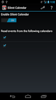 Screenshot of Silent Calendar