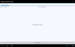 Screenshot of Memory Cleaner for Tablet