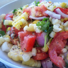 Sweet Corn & Tomato Salad With Fresh Cilantro
